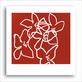 Le beuan benic nicolas fleurs blanches sur fond rouge 2003 medium