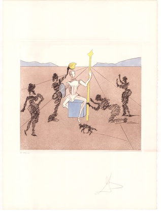 Salvador Dali Don Quijote (F) - Der goldene Helm von Mandrino
