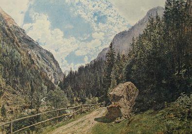 Rudolph von Alt Das Anlauftal bei Gastein Salzburg