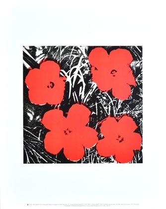 Warhol andy flowers red large