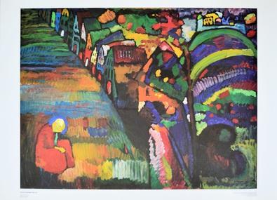 Wassily Kandinsky Malerei mit Haeusern