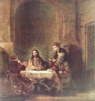 Rembrandt Die Juenger von Emmaus