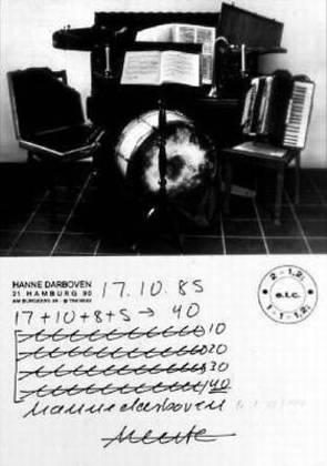 Hanne Darboven Tageszettel (1985)