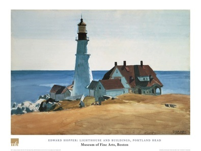 Edward Hopper Lighthouse and Buildings
