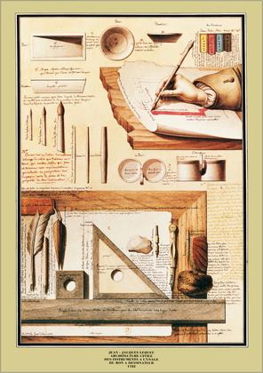 Jean - Jacques Lequeu Instrumente des Malers, 1782