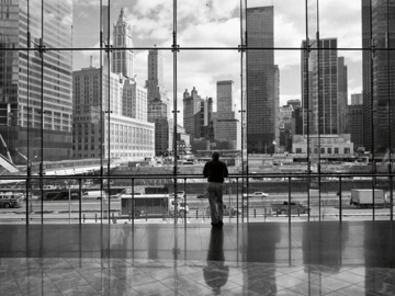 Henri Silberman Looking at Ground Zero