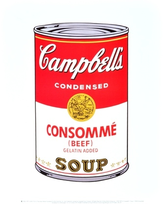 Andy Warhol Campbells Soup Consomme