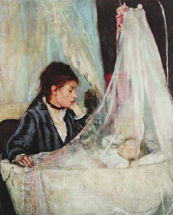 Berthe Morisot Mutter an der Wiege