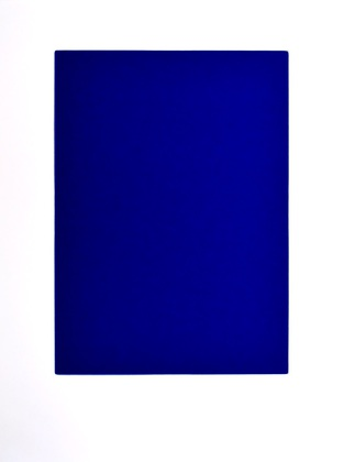 yves klein monochrom blau kb 73 poster bild kunstdruck im alu rahmen 80x60cm ebay. Black Bedroom Furniture Sets. Home Design Ideas