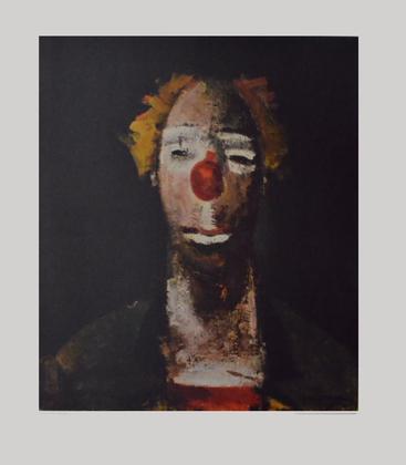 Joseph Kutter Clown mit Ziehharmonika
