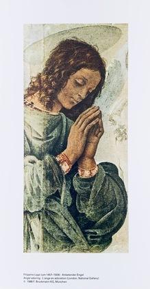 Filippo Lippi Anbetender Engel
