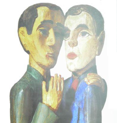 Ernst Ludwig Kirchner Die Freunde Detail