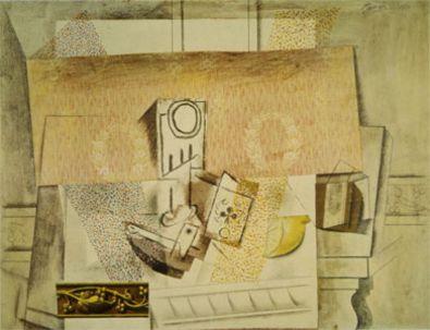 Pablo Picasso Stillleben mit roter Tapete