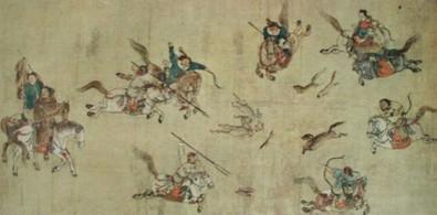 Chinesisch Ende mongolischer Jagd