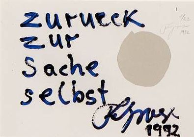 Felix Droese Zurueck zur Sache selbst (1992)
