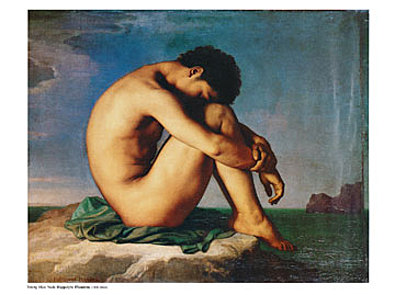 Hippolyte Flandrin Young Man Nude