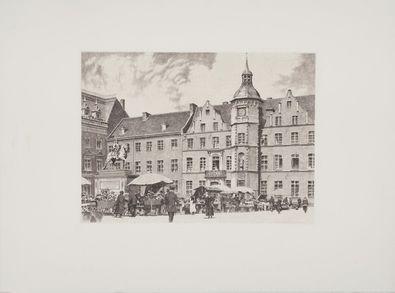 Bruck Duesseldorfer Markt u. Jan Wellem