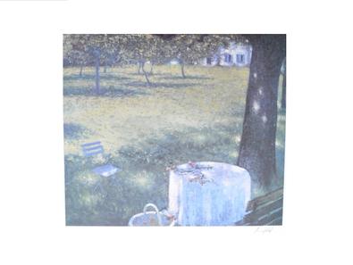Lutz Muenzfeld Koeln - Blaues Fenster (handsigniert)