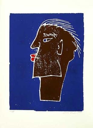Werner Reuber Dicke Lippen 1999 blau