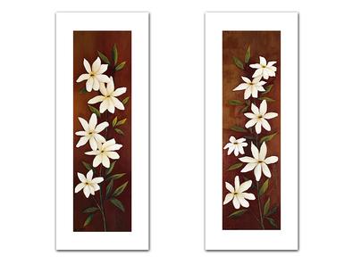 Hu Chen 2er Set 'Flowery I + II'