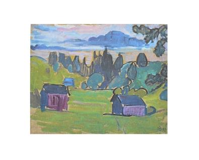 Gabriele Muenter Blick aufs Murnauer Moos, 1908