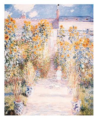 Claude Monet Kuenstlergarten in Vetheuil