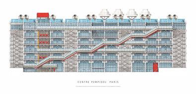 Renzo Piano Paris, Centre Pompidou