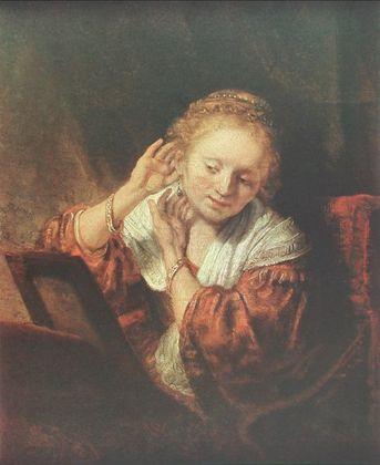 Rembrandt Junge Frau vor dem Spiegel