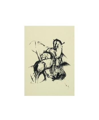 Franz  Marc Due Cavalli