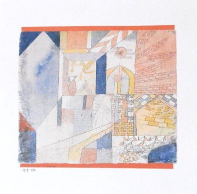 Paul Klee Architektonisches mit Krug