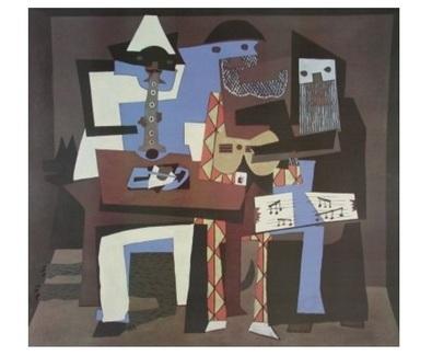 Pablo Picasso Die drei Musikanten