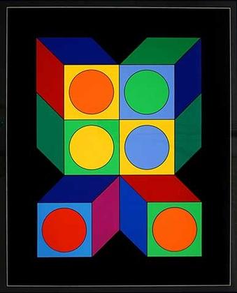 Victor Vasarely Motiv VIII