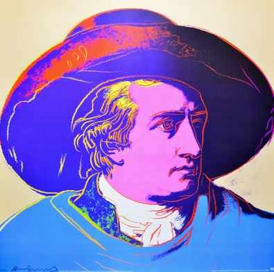 Andy Warhol Goethe, red face ( gross )