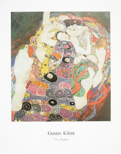 gustav klimt die jungfrau poster kunstdruck bei. Black Bedroom Furniture Sets. Home Design Ideas