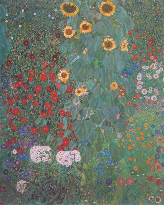 Gustav Klimt Bauerngarten mit Sonnenblumen (Ausschnitt) um 1905