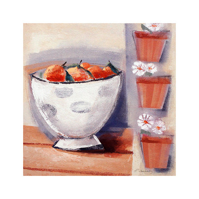 Francoise Conzales 2er Set 'Oranges in a Round' + 'Pears in a Square'