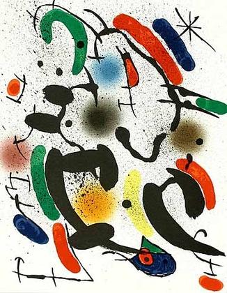 Joan Miro Volume 1 Blatt 6 (Tanz)