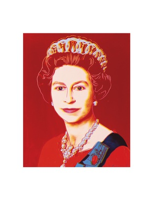 Andy Warhol Reigning Queens: Queen Elizabeth II of the United Kingdom 1985 light outline