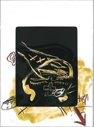 Antoni Tapies Main sur tete (1984)