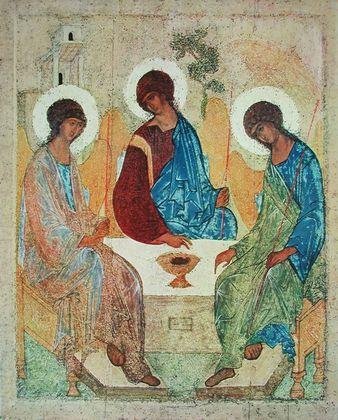Andrei Rubljew Die heilige Dreifaltigkeit