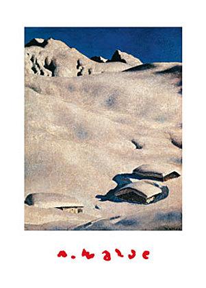 Alfons Walde Almen im Schnee