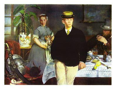 Edouard Manet Das Fruehstueck im Atelier
