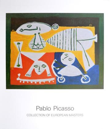 Pablo Picasso Mutter mit Kinder spielend