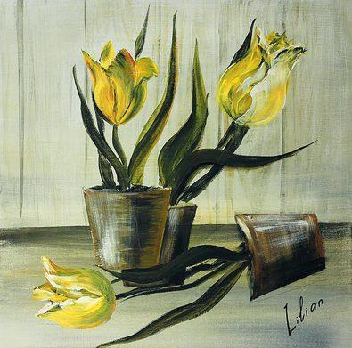 Lilian 4er Set Blumen als Stillleben