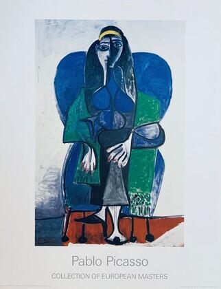 Pablo Picasso Femme assise a l echarpe verde