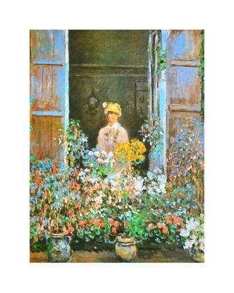 Claude Monet Camille Monet a la fenetre  1873