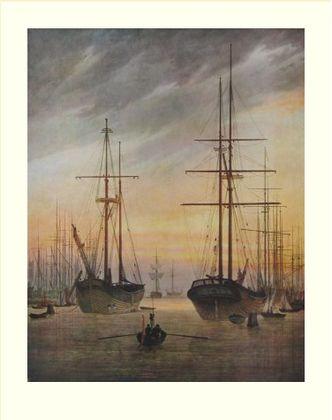 Caspar David Friedrich Der Hafen von Greifswald