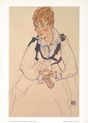 Egon Schiele Die Frau des Kuenstlers