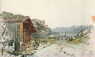 Rudolph von Alt St Gilgen am Wolfgangsee Salzkammergut