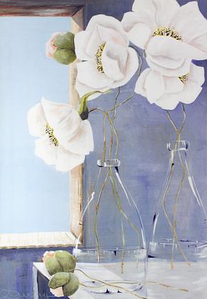 Annelies Buergin White Flowers - Variation 3
